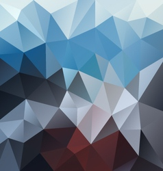 Blue brown mountain polygon triangular pattern vector