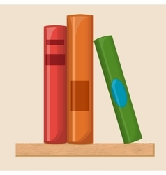 Book shelf flat vector image vector image