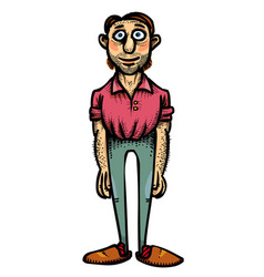 cartoon image of father vector image vector image