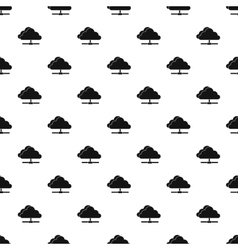Cloud computing connection pattern simple style vector