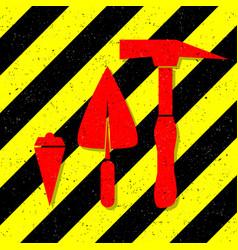 construction works symbol vector image
