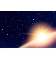 Cosmology with universe galaxy sun planets and vector
