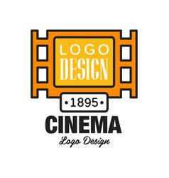 Creative cinema or movie logo template design vector