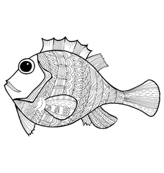 Doodle of fish vector
