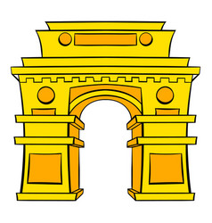 Gate new delhi india icon cartoon vector