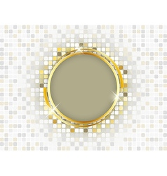 Gold ring with space for text on a mosaic vector
