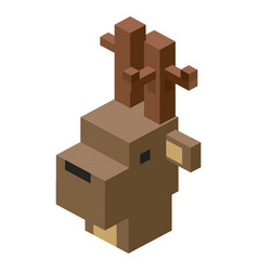 Head deer modular animal plastic lego toy blocks vector