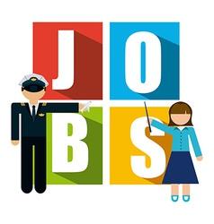 jobs concept vector image vector image