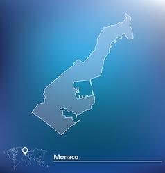 Map of monaco vector