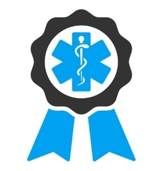 Medical seal icon vector