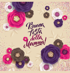 Mother s day greeting card confetti and floral vector