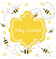 new baby arrival baby shower vector image
