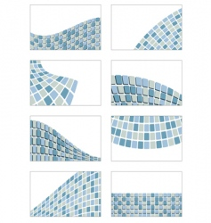 square card set vector image vector image