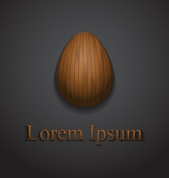 Stylish creative wooden easter egg logo sample vector image