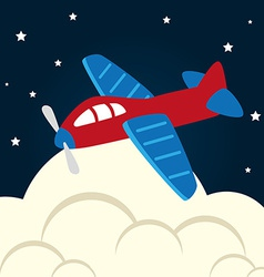 Toys design over cloudscape background vector