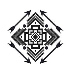 Tribal geometric pattern icon vector