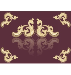 Vintage Acanthus red ornament vector image