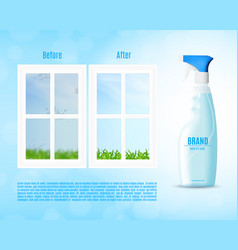 Window cleaning concept vector