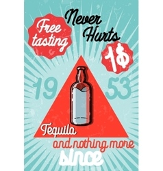 Tequila color banner vector