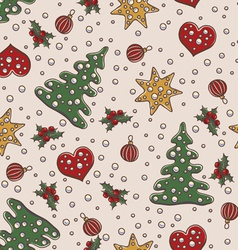 Seamless pattern christmas and new year theme vector