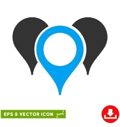Map pointers eps icon vector