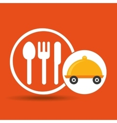 Fast delivery food restaurant icon vector