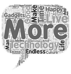 The culture of excess text background wordcloud vector
