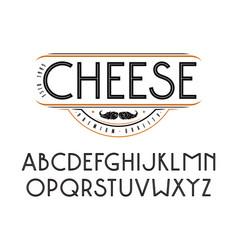Decorative sanserif font with an internal contour vector