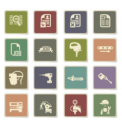 Job search icon set vector