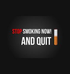 no tobacco day banner vector image