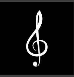 Treble clef it is the white color icon vector