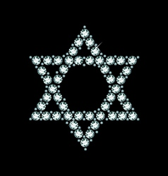 Diamond star of david vector