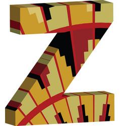 3d font letter z vector