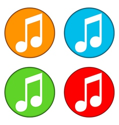 Music buttons set vector