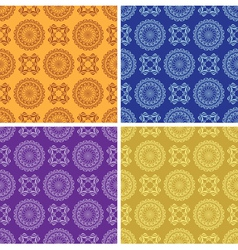 Light and dark vintage seamless patterns vector