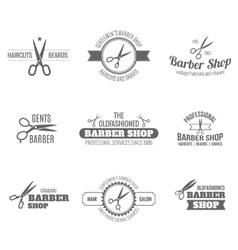 Barber label black vector