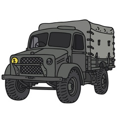 Old military truck vector