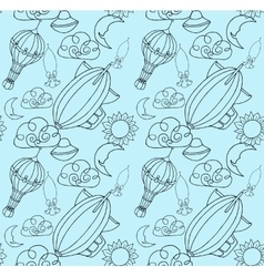 Doodle pattern vector