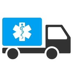 Medical shipment icon vector
