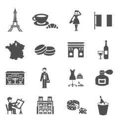 France icons black vector