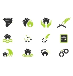 Home insurance icons vector