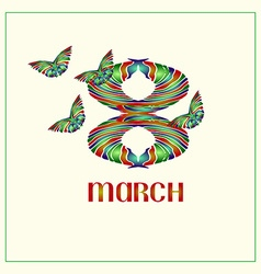 8 March vector image