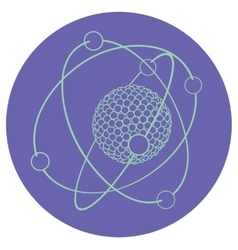 Outline atom nucleus vector