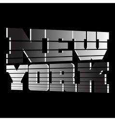 T shirt new york vector