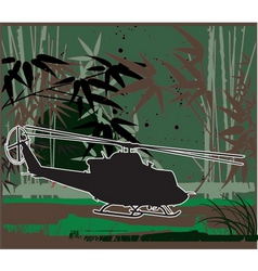 army chopper iroquois vector image