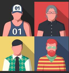 Avatar portrait icons vector