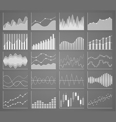 Business chart collection set of graphs data vector