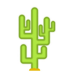 Cactus isolated large peyote from desert on white vector