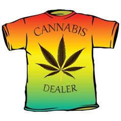cannabis tshirt vector image vector image
