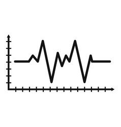 Cardiogram icon simple style vector